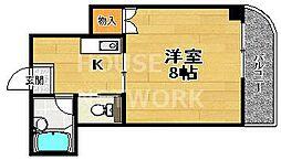 京都府京都市北区紫野下柏野町の賃貸マンションの間取り