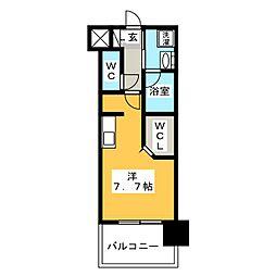 ラファセグランビア博多[4階]の間取り