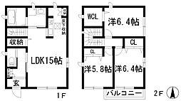 [一戸建] 兵庫県川西市久代3丁目 の賃貸【/】の間取り