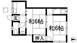 阪本文化アパート[2階]の間取り
