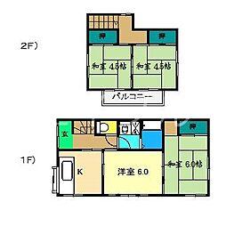 [一戸建] 高知県高知市中久万 の賃貸【/】の間取り