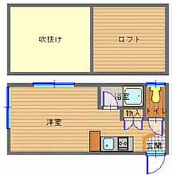 長崎県長崎市泉1丁目の賃貸アパートの間取り