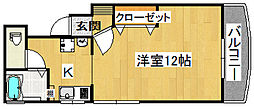 リバーサイド住道[4階]の間取り