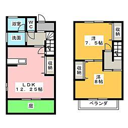 [テラスハウス] 愛知県あま市七宝町川部折戸 の賃貸【愛知県 / あま市】の間取り