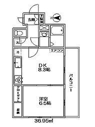東京都世田谷区宮坂3丁目の賃貸マンションの間取り