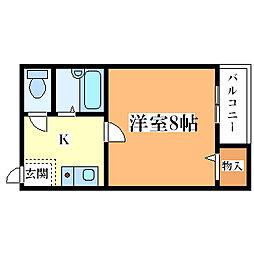 香川ハイツ[404号室]の間取り