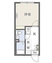 東武伊勢崎線 東向島駅 徒歩2分の賃貸マンション 3階1Kの間取り