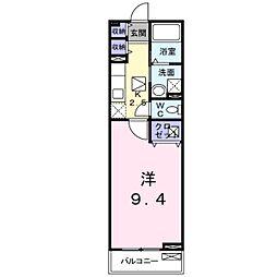 千葉県松戸市五香南2丁目の賃貸アパートの間取り