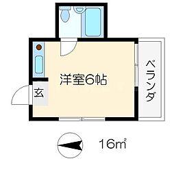 下鴨ハイツ[4階]の間取り