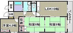 ロマンチェス昭和町[2階]の間取り