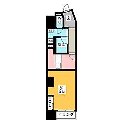 POWERHOUSE the residence 8階1DKの間取り
