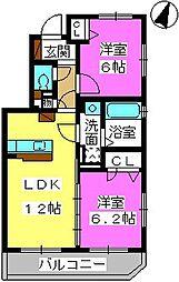 SOPHIA TOKUNAGA II[102号室]の間取り