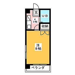 フォンティーヌ内田橋[3階]の間取り