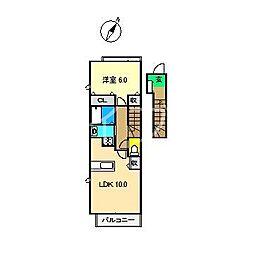 TIARA I[2階]の間取り