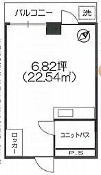 東京都渋谷区代々木1丁目の賃貸マンションの間取り