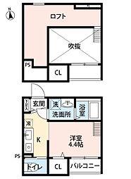 ドルミーレ箱崎[2階]の間取り