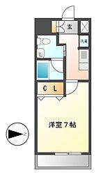 レジディア鶴舞[13階]の間取り
