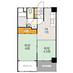 フドウ赤坂[3階]の間取り