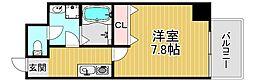 TOYOTOMISTAYPREMIUM梅田西II 2階1Kの間取り