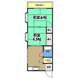 チェリーハウスオノダ[3階]の間取り