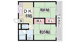 コーポひらの[2階]の間取り