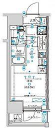 クラリッサ横浜WEST 2階ワンルームの間取り