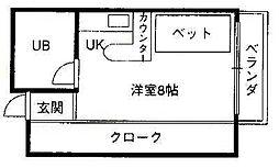 シティ鷺ノ森[2-B号室]の間取り