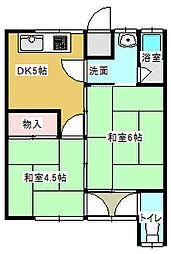 若宮荘[8号室号室]の間取り