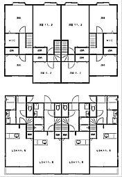 [タウンハウス] 静岡県浜松市西区大平台4丁目 の賃貸【静岡県 / 浜松市西区】の間取り