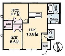 ガーデンヴィラSAKURA A棟[1階]の間取り