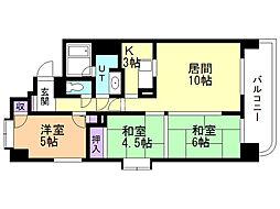 ライオンズマンション南20条 3階3LDKの間取り