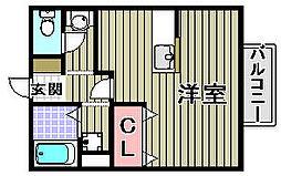 レジデンス東山3[2階]の間取り