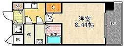 京都府京都市南区東九条上殿田町の賃貸マンションの間取り