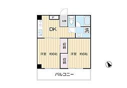 サンハイム瀬田[3階]の間取り