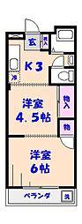 富士ハイホーム[603号室]の間取り