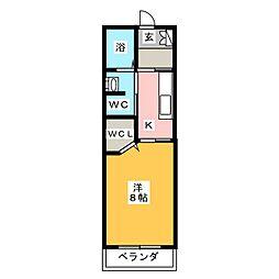グローリーフォレスト B棟[2階]の間取り
