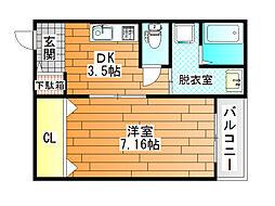 仮称)古市マンション[1階]の間取り