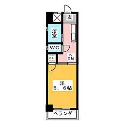 シャトー山田[2階]の間取り