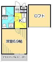 Peaceful K 〜ピースフルK〜[1階]の間取り