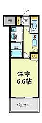 ふぁみ〜ゆ天王寺2[7階]の間取り