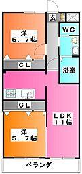 サニーハイツ3[103号室]の間取り