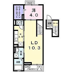 クレメントハウス[0407号室]の間取り