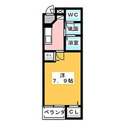 静岡県静岡市葵区北安東3丁目の賃貸マンションの間取り