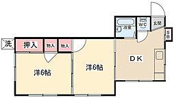サンシャインハイツカジワラ[1階]の間取り