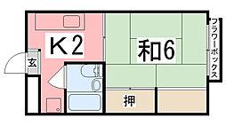 ユニハイツ田村I[205号室]の間取り