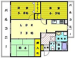コンフォート12[2階]の間取り