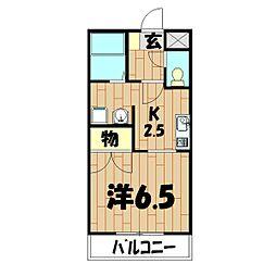 メゾン鶴ヶ峰[201号室]の間取り