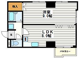 アビタ小橋[2階]の間取り