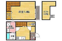 福岡県福岡市東区二又瀬新町の賃貸アパートの間取り