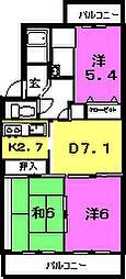 ファミーユ二日町[1階]の間取り